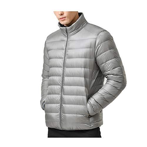 Chaqueta de Plumas Hombre Mens Puffer Coat Plegable De Gran tamaño pake...