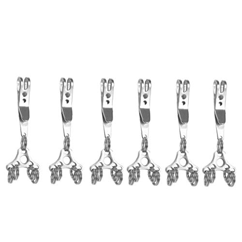 Multi-Funktions-Hänge Clip Hat Expansion Buckle Set Schlüsselring im Freienwerkzeug-Banknoten Klettern Buckle Schnell hängende Ausrüstung 6pcs