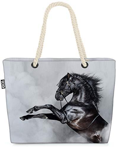 VOID Andalusier Pferd Strandtasche Shopper 58x38x16cm 23L XXL Einkaufstasche Tasche Reisetasche Beach Bag