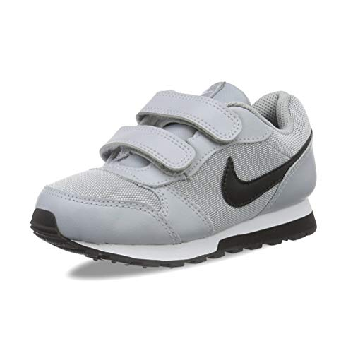 Nike MD Runner 2 (PSV), Scarpe da Ginnastica Bambino, Grigio (Wolf Grey/Black-White 003), 32 EU