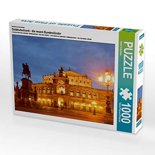 CALVENDO Puzzle Ostdeutschand - die neuen Bundesländer 1000 Teile Lege-Größe 64 x 48 cm Foto-Puzzle Bild von Peter Schickert