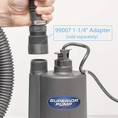 Superior Pump 91250 1/4 HP Thermoplastic Utility Pump, Black