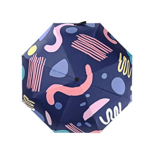 LYRRHT Sombrilla con Estampado De Paraguas Sombrilla Plegable Dulce Sombrilla para El Sol Sombrilla PortáTil para Lluvia Y Lluvia 1 Paraguas