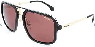 Carrera Men's Ca1004s Polarized Aviator Sunglasses BLACK GOLD/BURGUNDY POLARAIZED 57 mm