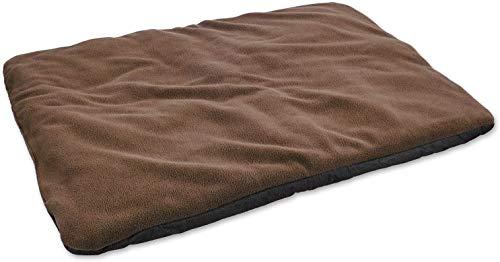 vitazoo Hundedecke, braun, isoliert und leicht gepolstert – sehr leicht, ideal zum Mitnehmen und Transportieren, rutschfeste und Wasserabweisende Unterseite, 60cm x 45cm
