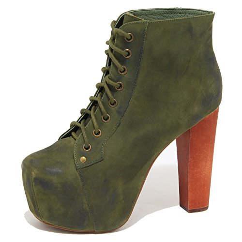 Jeffrey Campbell 8772N Tronchetto Lita Verde Stivaletto Donna Boots Woman [40]