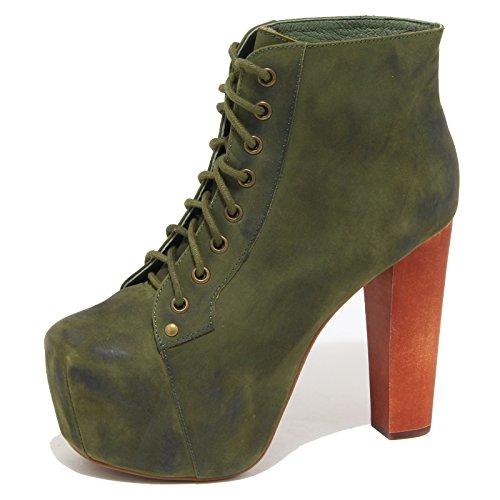 Jeffrey Campbell 8772N Tronchetto Lita Verde Stivaletto Donna Boots Woman [40]