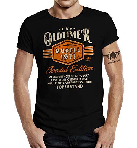 T-Shirt als Geschenk für Herren und Männer zum 50. Geburtstag: Oldtimer Modell Baujahr 1971