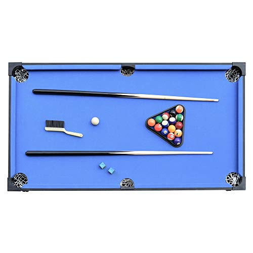 Hathaway Matrix 54-In 7-in-1 Multi Game Table with Foosball, Pool, Glide Hockey, Table Tennis, Chess, Checkers and Backgammon