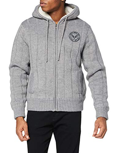Schott NYC Pull/Sweater Homme, Gris (H Grey Hegr), Taille Fabricant: XXXL