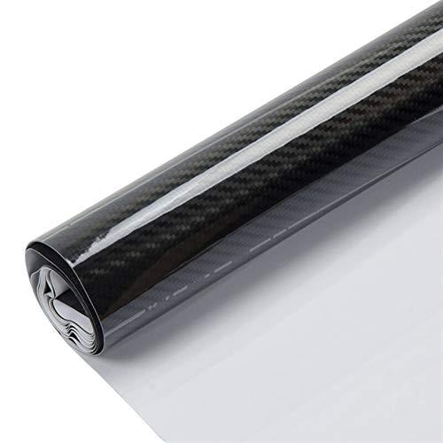 Easy to install Hoja de negro 5D fibra de carbono Vinilo Car Styling lámina de película de envolver automática de la motocicleta de la consola del ordenador portátil de la piel de la decoración durabl