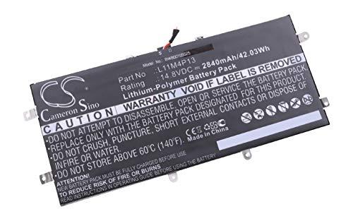 vhbw Li-Polymer Akku 2840mAh (14.8V) für Notebook, Laptop Lenovo IdeaPad Yoga 11, IdeaPad Yoga 11s wie L11M4P13.