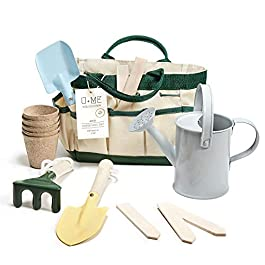 U+ME Kids Gardening Tools, Real Garden Set, Eco Friendly Design   Outdoor Toy   STEM, Montessori Toddler Activities   Kids Garden, Playhouse and Sandbox Accessories