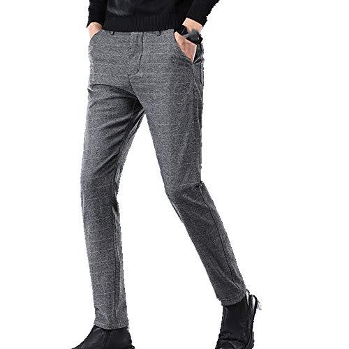 N\P Pantalones casuales para hombre con pantalones de felpa en invierno e invierno