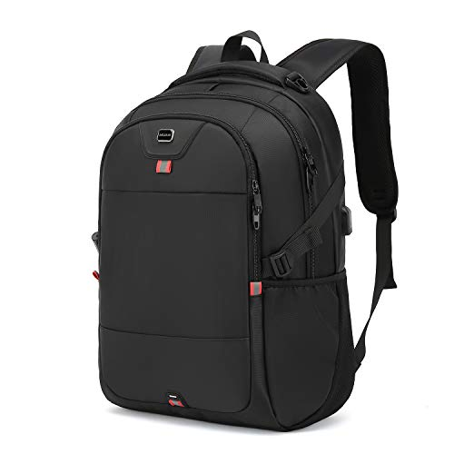 Laptop Backpack 17 Inch Water Resistant Backpacks Durable College Travel Daypack Anti Theft with USB Charging Port Best Gift for Men Women Boys Girls Students(17 Inch, Black)