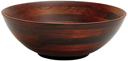 Lipper International 274 Cherry Finished Footed Serving Bowl for Fruits or Salads, Large, 13.75' Diameter x 5' Height, Single Bowl
