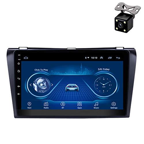 PLOKM 9 Pulgadas Android 8.1 Autoradio Radio para Coche Car Stereo GPS de Navegación Auto para Mazda 3 2004-2009 con WiFi Bluetooth Soporta Mirror Link Mandos de Volante
