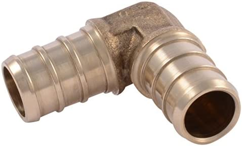 SharkBite UC248LFA10 1 2 90 Degree Elbow PEX Barb Fitting 10 Pack 10 Pack Brass 10 Count product image