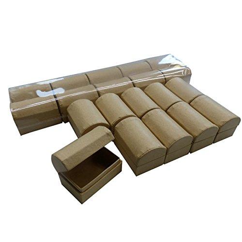 Set mit 20 Stück Schatztruhen aus Pappe/Karton zum Basteln und Selbstgestalten, 6x4x4cm