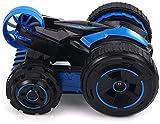 Nueva Único Juguetes de radio control remoto de control del tirón del coche 4WD Sobre ruedas traseras de doble cara 360deg;Los tirones y giros con el LED enciende conducir coches de juguetes for los n