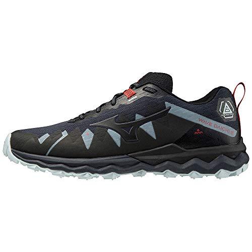 Mizuno Wave Daichi 6, Zapatillas Para Carreras De Montaña Hombre, Indiaink Blk Ignitionred, 42.5 Eu