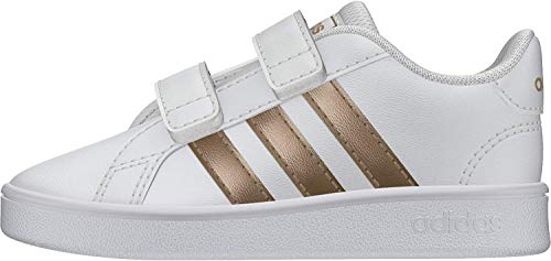 adidas Grand Court I, Zapatillas de Estar por casa, Multicolor Ftwwht Coppmt Glopnk 000, 23 EU