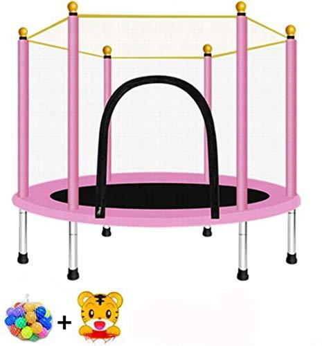 LKFSNGB Cama elástica de 5 pies con malla de salto y cubierta de resorte, trampolín para interiores y exteriores, para familias, escuelas y entretenimientos