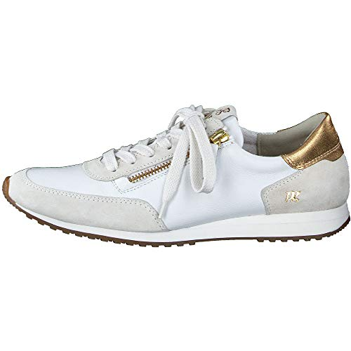 Paul Green Damen SUPER Soft Sneaker 4979, Frauen Low-Top Sneaker, strassenschuh schnürer schnürschuh sportschuh weibliche,Ice/White,7.5 UK / 41 UK