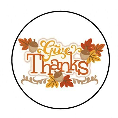 Special Pack 48 GIVE Thanks Thanksgiving Fall Envelope Seals Labels Stickers 1.2' Round #CUAS