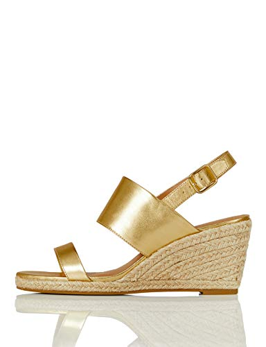Marca Amazon - find. Wedge Two Part - Sandalias con cuña tipo alpargatas Mujer
