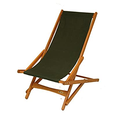 """BYER OF MAINE, Pangean Glider Chair, Now Partially Assembled, Perfect for Camping, Matching Furniture 38""""D X 25""""W X 39""""H, Single, Green"""