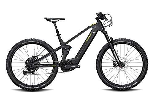 ConWay Xyron 327 Herren E-Bike 625Wh Fully E-Mountainbike Elektrofahrrad Black matt/Shadow Grey 2020 RH 43 cm / 27,5 Zoll