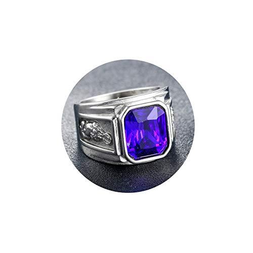 Aooaz Anillos Goticos Monedas De Cobre Anillo Acero Inoxidable Hombre Azul Tamaño 17