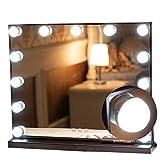 KAISIMYS Espejo de Maquillaje con luz Escritorio Grande Led HD Espejo de vanidad Luz de Relleno Inicio Hollywood Style Mirror Kit Baño Mesa de Maquillaje Espejo Set de Luces Regulables