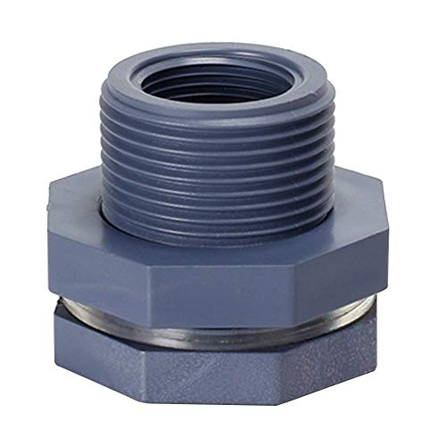 XINXI-YW Conveniente Tema Seal Conector 2pcs del Tanque de Agua for acuarios de Soild la Barril de plástico PVC Manguera Universal de 3/4 Pulgadas Jardín Espita Mujer Decorativo