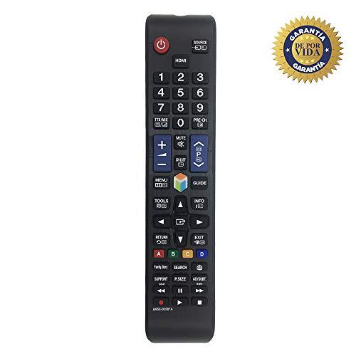MYHGRC Reemplazo del Control Remoto Samsung AA59-00581A Control Remoto Ajuste La mayoría de los televisores LED con Pantalla LCD Samsung 3D LCD: no Requiere configuración TV Control Remoto Universal