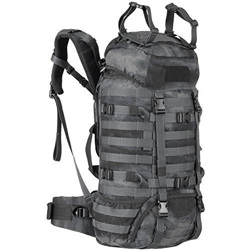 Wisport Outdoor Rucksack groß Damen & Herren + inkl. E-Book | Bushrafting Survival Backpack für Teenager | Camping | Camp | Zelt | mit Regenhülle | Cordura | Camo | Raccoon 45L, A-TACS LE