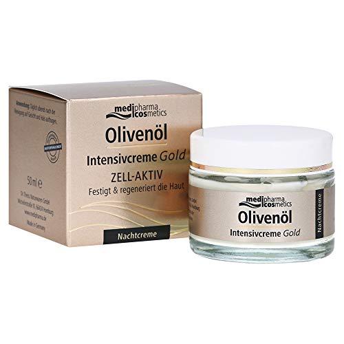 medipharma cosmetics Olivenöl Intensivcreme Gold ZELL-AKTIV Nachtcreme, 2er Pack (2 x 50 ml)