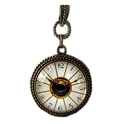 One Life ,one jewerly Reloj de imitación Vintage con Centro de Ojos, Collar de Estilo, joyería de Reloj, Collar de Reloj de imitación