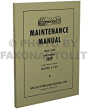 1945-1949 Jeep CJ-2A only Repair Shop Manual Reprint Willys