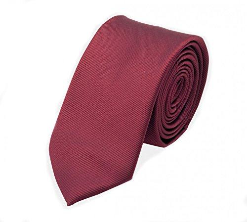 Fabio Farini Étroit Cravate en rouge de