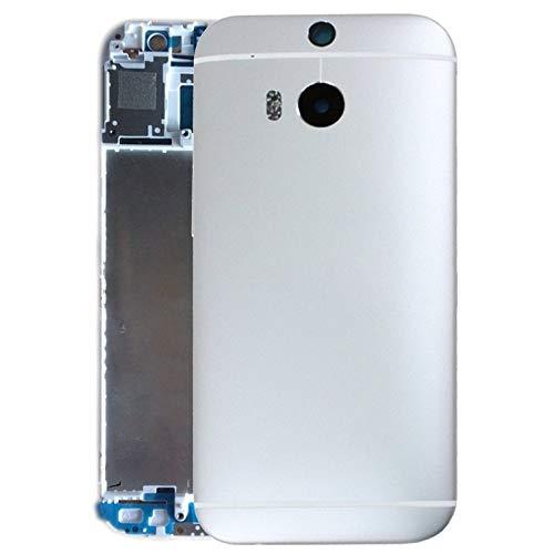 IPartsBuy for HTC One M8 Gehäuse-Abdeckungs-Zubehör Teile Ersetzen Durch Selbst (Color : Silver)