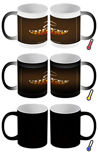 LEotiE SINCE 2004 Zaubertasse Farbwechseltasse Kaffeebecher Tasse Becher Latte Cappuccino Espresso Kaffee Kaffeehaus