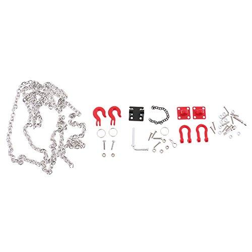 Sharplace Anhängerkupplung Haken + Schäkel+ Kette Set für 1:10 Rc Crawler Auto