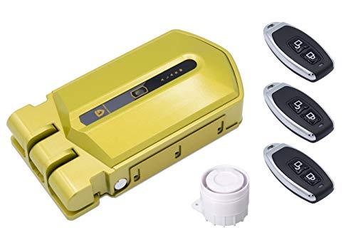 Cerradura Invisible con Alarma Golden Shield Alarm 120db con 3 mandos a distancia incopiables