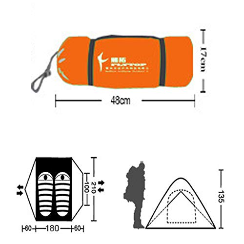 Kazumiyaテント2人用キャンプテントツーリングテントPU4000MMアウトドア4シーズン登山山岳前室二重層高通気性防雨防風防寒紫外線カット(2人用)