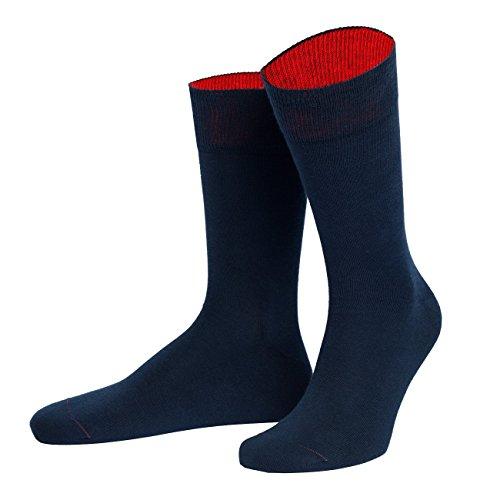 von Jungfeld - Herren Socken/Strumpf Herrensocken Baumwolle 1 Paar 42-44 marine