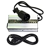 ScaAuto Golf Cart Charger 48 Volt Trojan Battery Chargers 48 Volt Golf Cart Accessories with 3 Pin 5mm Round Plug Handle for Club Car DS Precedent Golf Carts 1995 Up