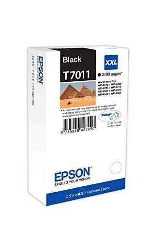 Epson T701140 Workforce Pro Wp 4015/4025/4545 Inkjet / Getto d'Inchiostro Cartuccia Originale, con Amazon Dash Replenishment Ready