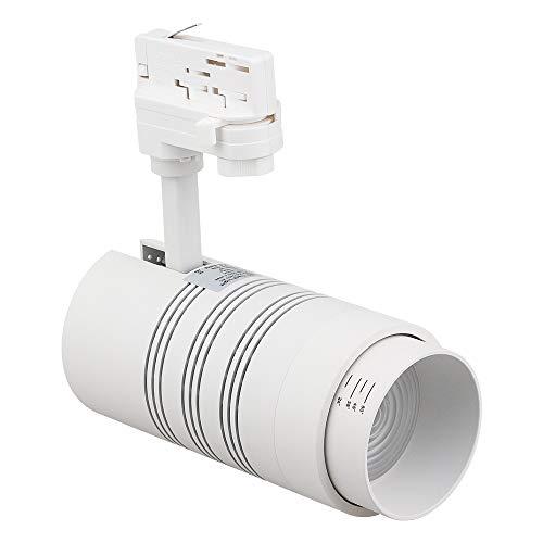30w Zoom 3 Phasen Stromschienen Strahler LED Spot für Track Light (weiss)